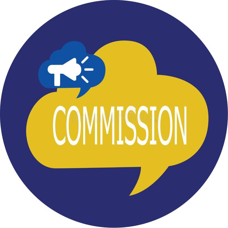 Nota de la escritura que muestra a la Comisión Papel de exhibición del comanalysisd de la instrucción de la foto del negocio dado stock de ilustración