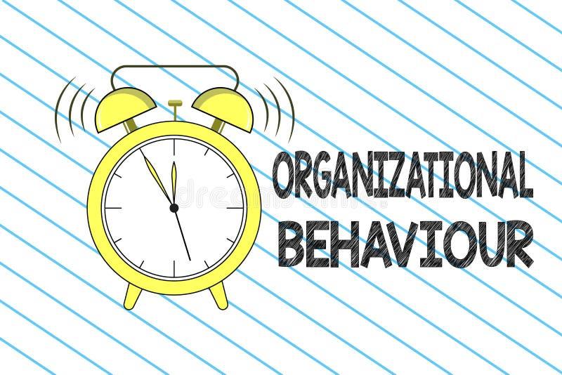 Nota de la escritura que muestra comportamiento de la organización La foto del negocio que muestra el estudio de la gente de la m ilustración del vector
