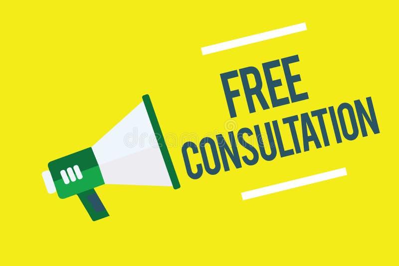 Nota de la escritura que muestra la consulta libre Foto del negocio que muestra dando discusiones médicas y legales sin paga libre illustration