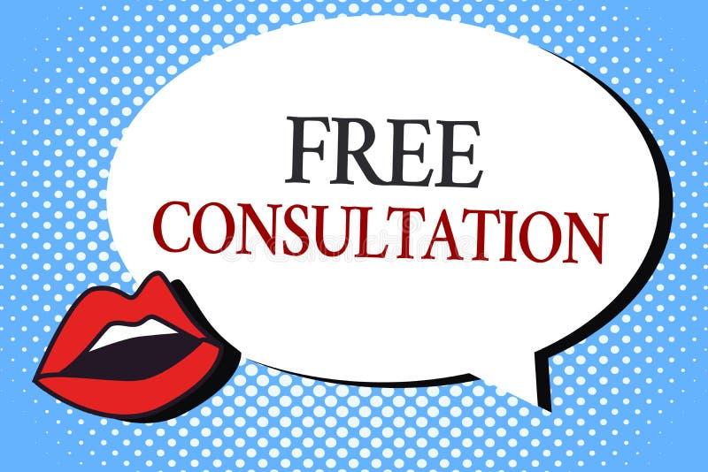 Nota de la escritura que muestra la consulta libre Foto del negocio que muestra dando discusiones médicas y legales sin paga stock de ilustración