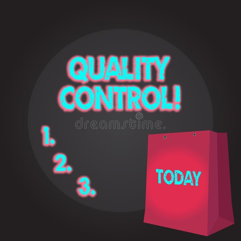Nota de la escritura que muestra control de calidad Sistema de exhibici?n de la foto del negocio de est?ndares que mantienen en a libre illustration