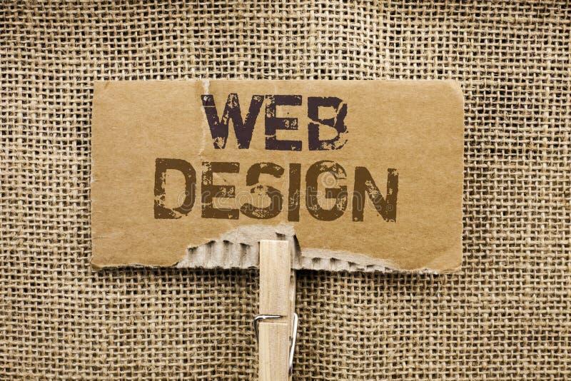 Nota de la escritura que muestra diseño web Wri responsivo de exhibición de la navegación del bosquejo de Webdesign de la página  imagenes de archivo