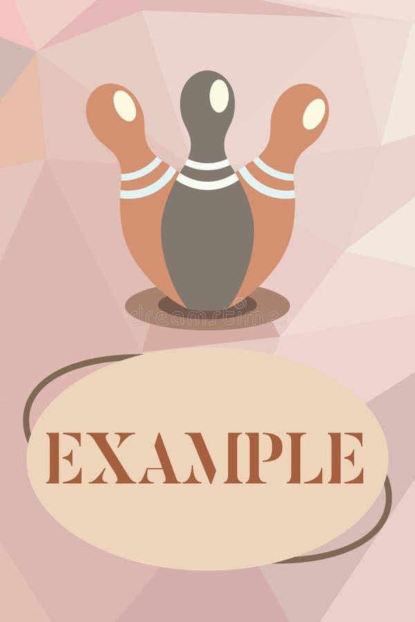 Nota de la escritura que muestra ejemplo Modelo de exhibición de la muestra del ejemplo de la foto del negocio para seguir la exp libre illustration