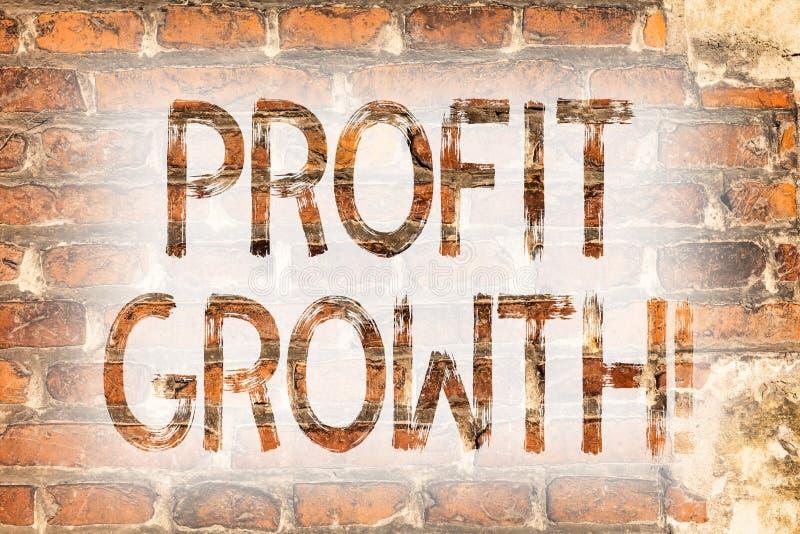 Nota de la escritura que muestra el aumento de beneficios Foto del negocio que muestra el ladrillo creciente éxito financiero del fotografía de archivo libre de regalías