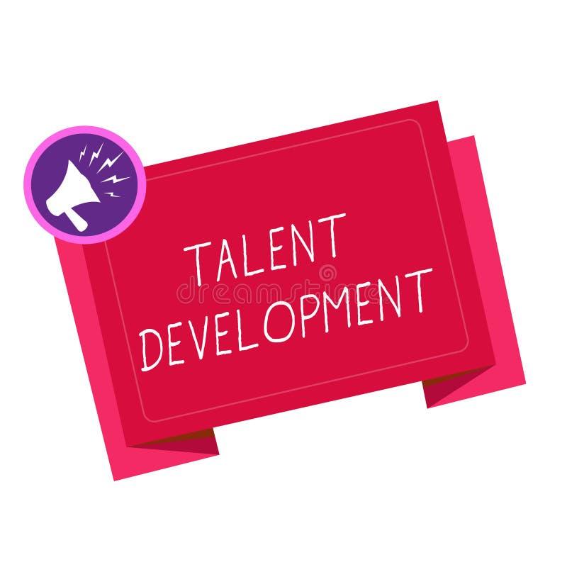 Nota de la escritura que muestra el desarrollo del talento Capacidades de exhibición de las habilidades del edificio de la foto d stock de ilustración