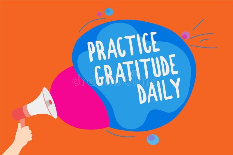 Nota de la escritura que muestra el diario de la gratitud de la práctica La exhibición de la foto del negocio sea agradecida a la fotos de archivo libres de regalías