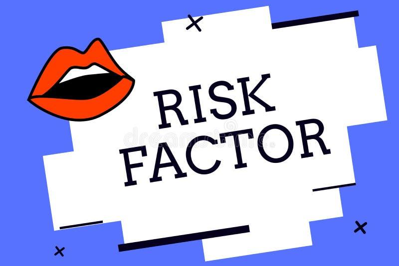 Nota de la escritura que muestra factor de riesgo  libre illustration