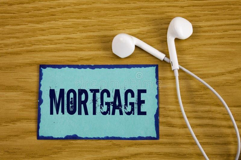 Nota de la escritura que muestra hipoteca Foto del negocio que muestra la derecha condicional de la propiedad al prestamista como foto de archivo libre de regalías