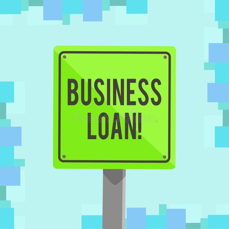 Nota de la escritura que muestra préstamo empresarial Creación de exhibición de la foto del negocio de la deuda que será compensa libre illustration