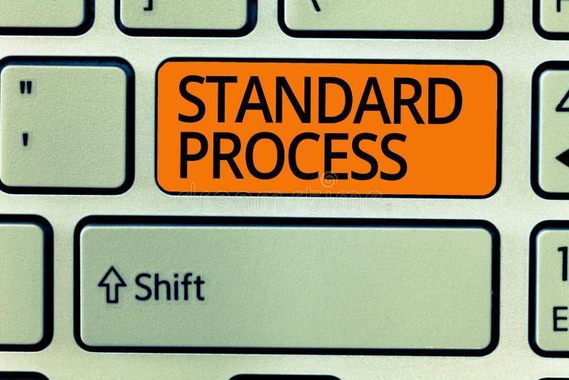 Nota de la escritura que muestra proceso estándar Reglas de exhibición de la foto del negocio hechas para ser hecho juego con cal fotos de archivo