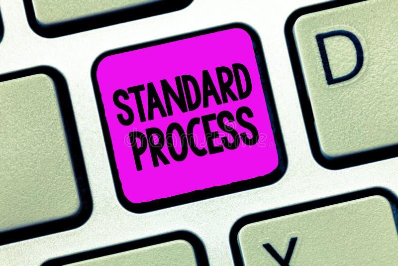 Nota de la escritura que muestra proceso estándar Reglas de exhibición de la foto del negocio hechas para ser hecho juego con cal fotografía de archivo