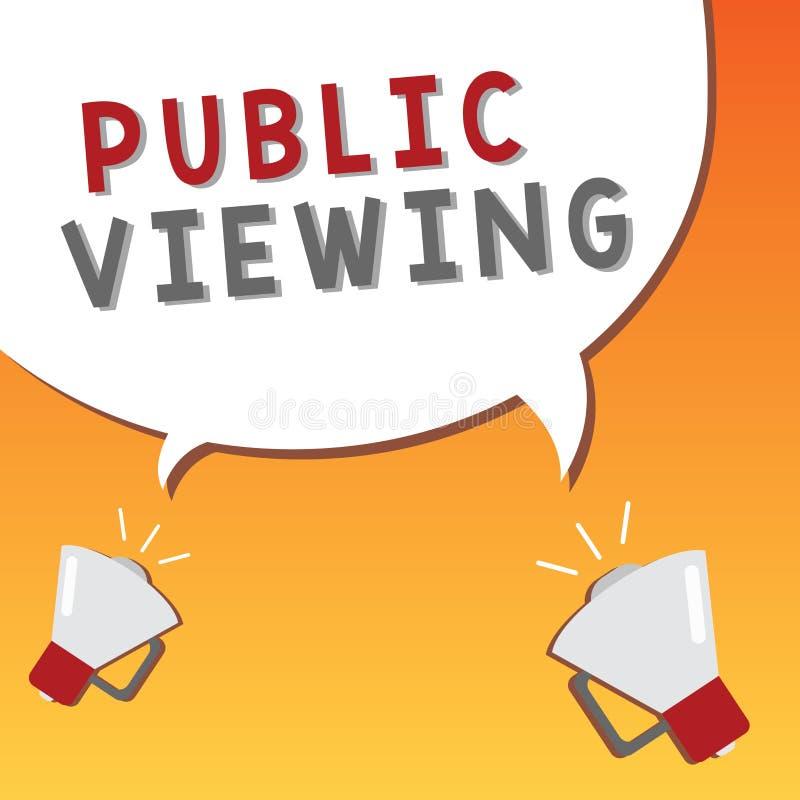 Nota de la escritura que muestra la visión pública Exhibición de la foto del negocio capaz de ser visto o de ser sabido por todo  stock de ilustración