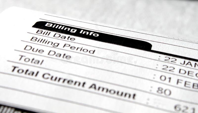 Nota de la factura