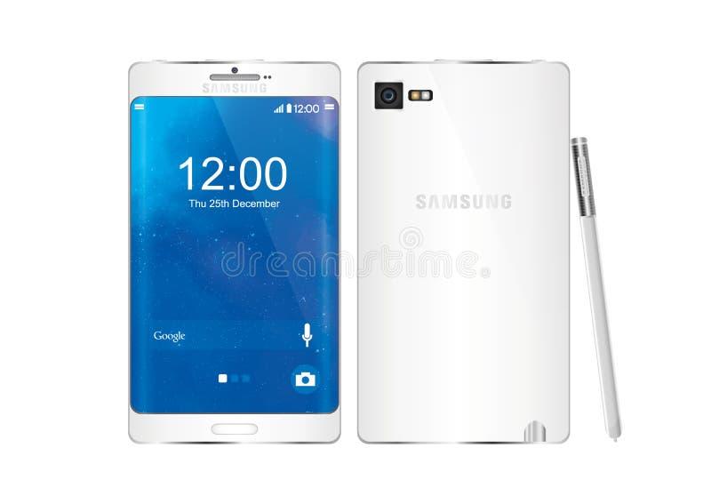 Nota 5 de la galaxia de Samsung ilustración del vector