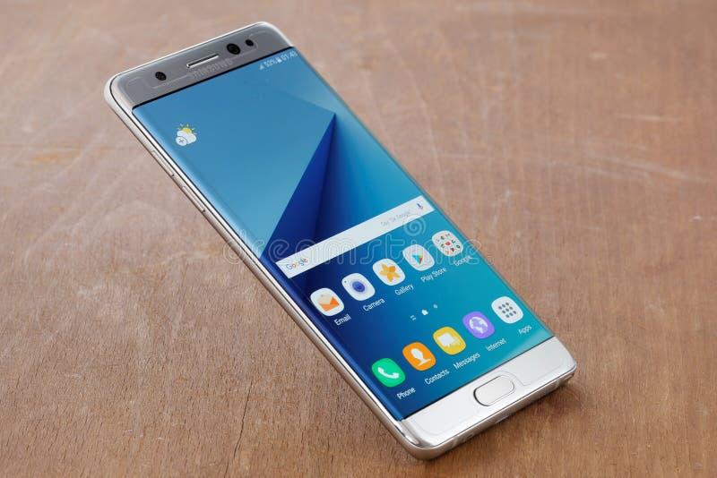 Nota 7 de la galaxia de Samsung fotografía de archivo libre de regalías