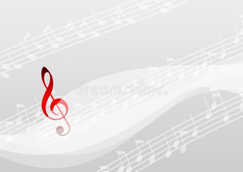 Nota de la música ilustración del vector