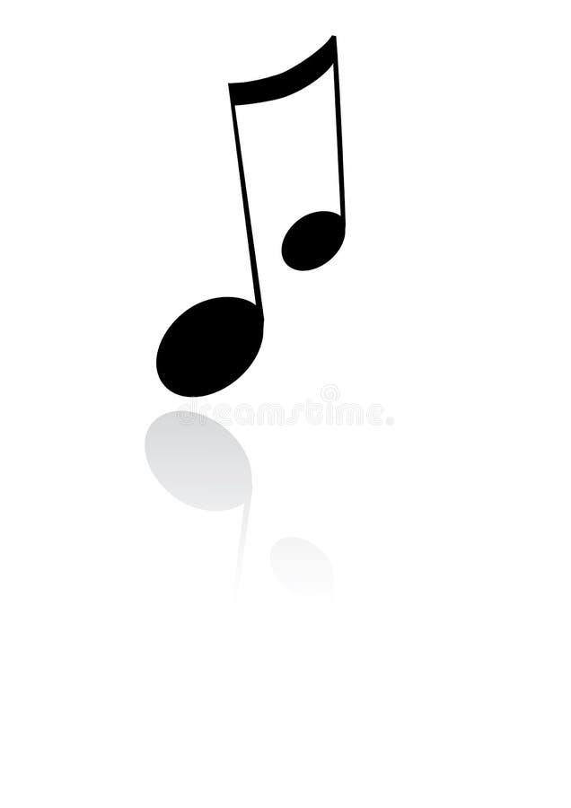 Nota de la música stock de ilustración