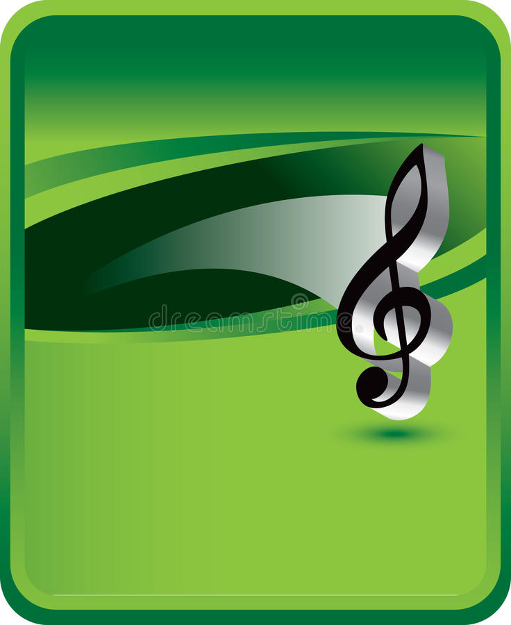 Nota de la música sobre fondo verde libre illustration