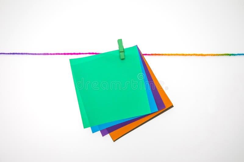 Nota de papel colorida fotos de archivo