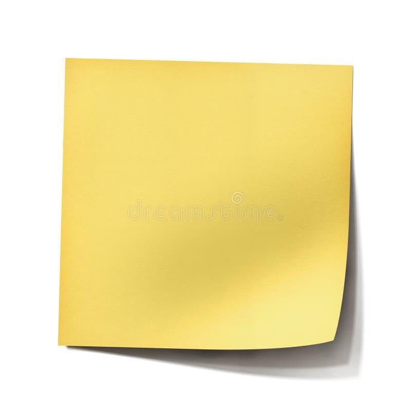 Nota de post-it amarela fotos de stock