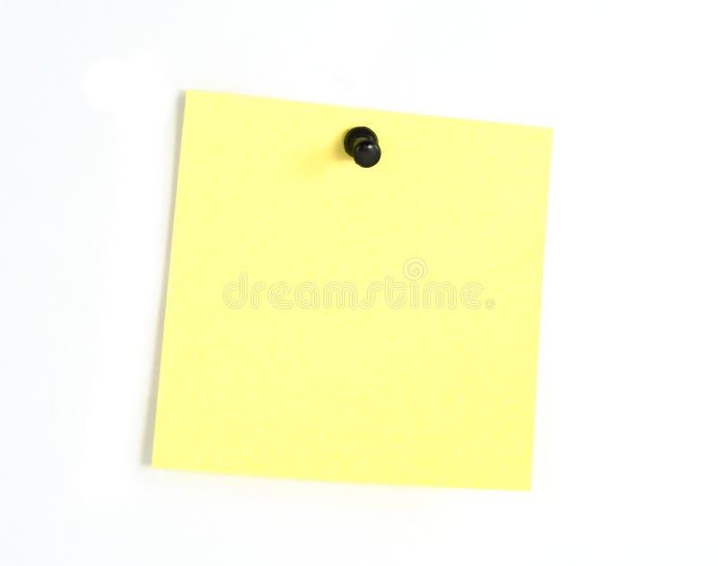 Nota de post-it amarela fotografia de stock royalty free