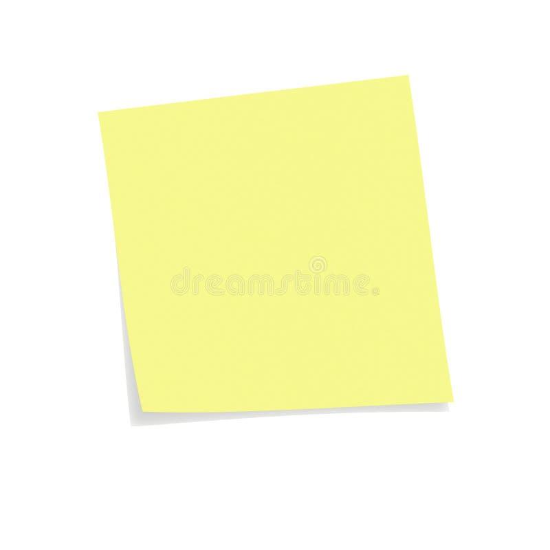 Nota de post-it amarilla foto de archivo