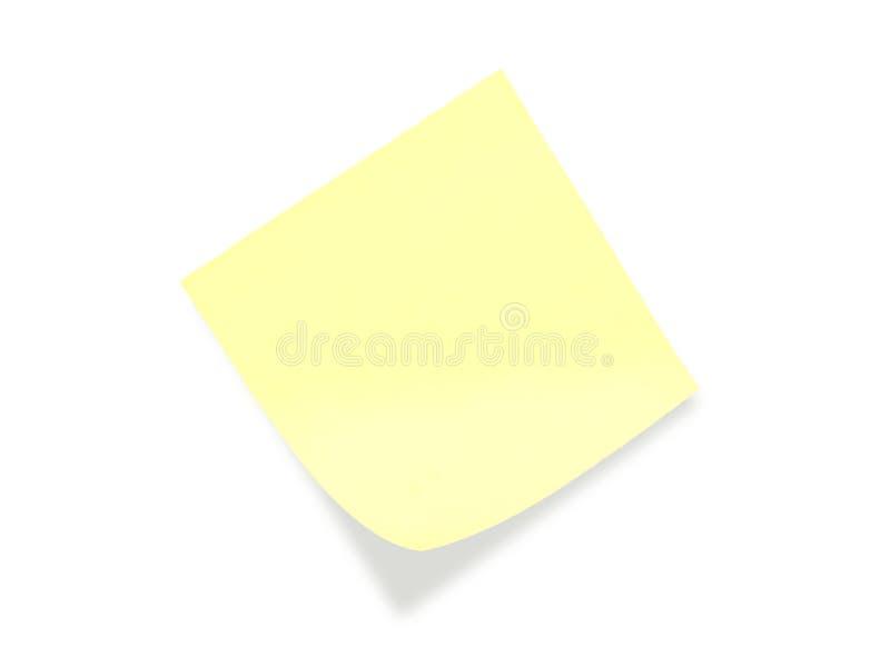 Nota de post-it amarilla fotografía de archivo libre de regalías