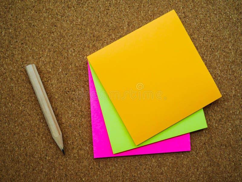 Nota de tres posts fotos de archivo libres de regalías