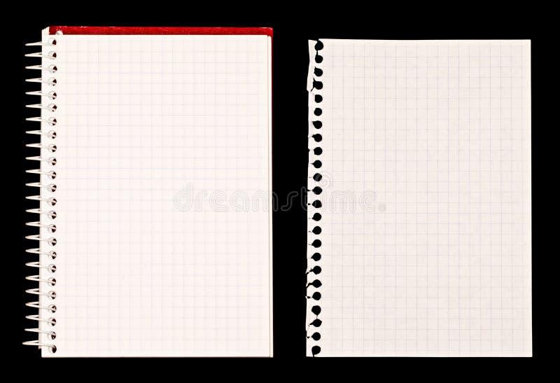 Nota del cuaderno y del papel imagen de archivo