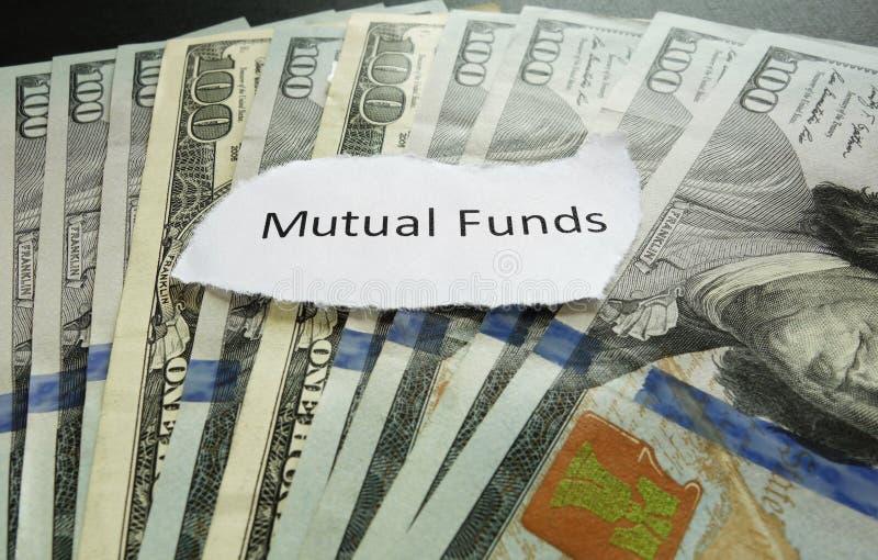 Nota del fondo di investimento mutualistico fotografie stock libere da diritti