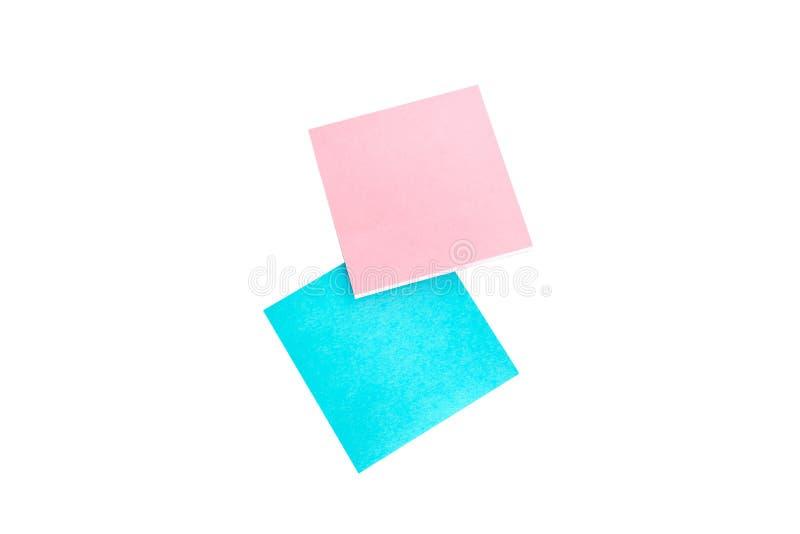 Nota del poste aislada en un fondo blanco imágenes de archivo libres de regalías
