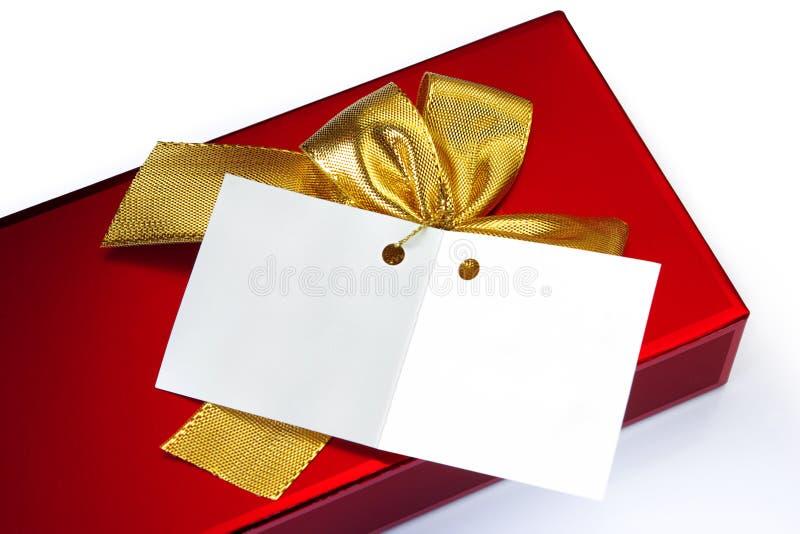 Nota del regalo imágenes de archivo libres de regalías
