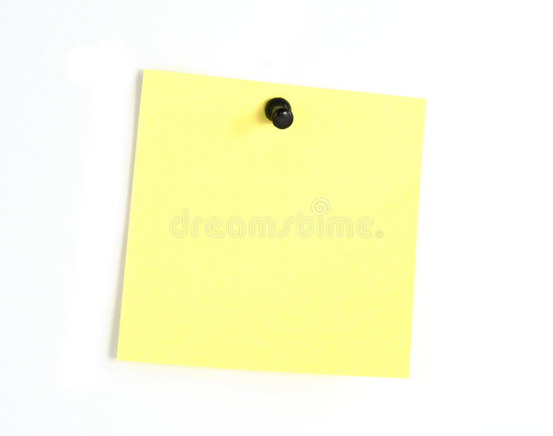 Nota di post-it gialla fotografia stock libera da diritti