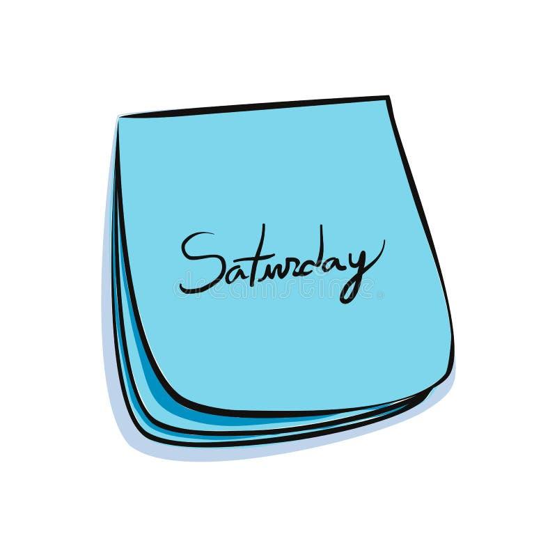 Download Nota di sabato illustrazione vettoriale. Illustrazione di scrittura - 7313557