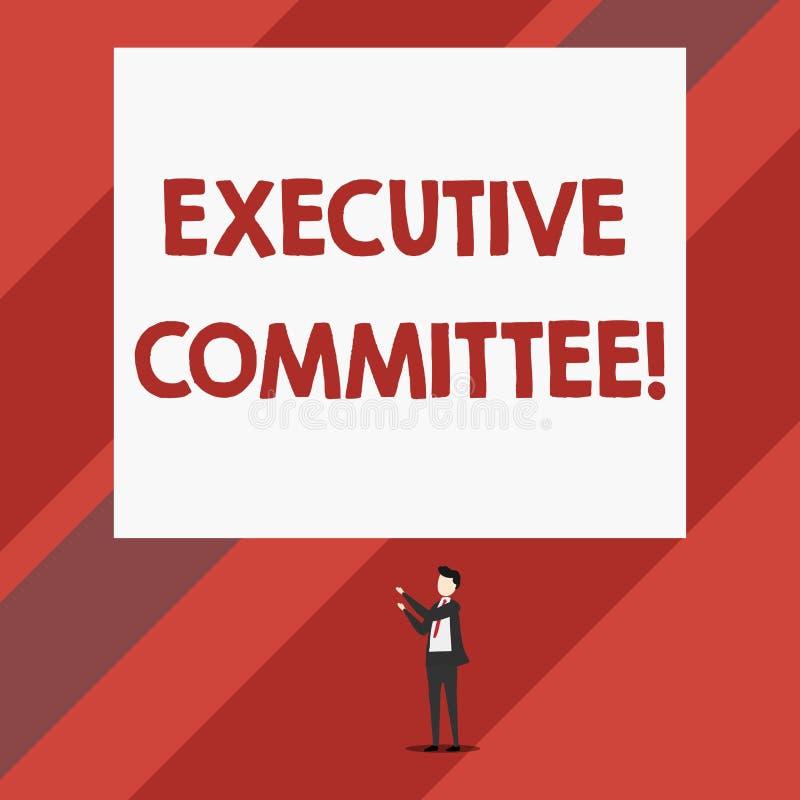 Nota di scrittura che mostra comitato esecutivo La foto di affari che montra il gruppo di direttori nominati ha autorit? dentro illustrazione di stock