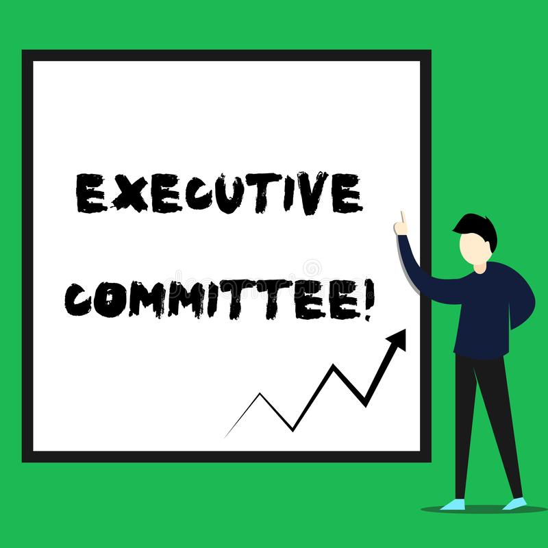 Nota di scrittura che mostra comitato esecutivo La foto di affari che montra il gruppo di direttori nominati ha autorit? dentro royalty illustrazione gratis