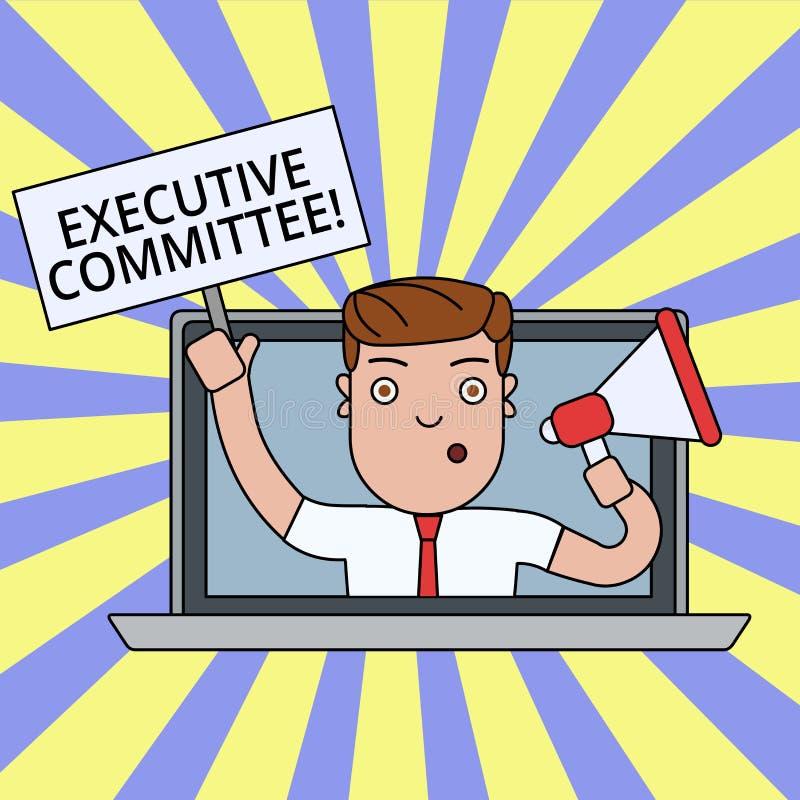 Nota di scrittura che mostra comitato esecutivo La foto di affari che montra il gruppo di direttori nominati ha autorit? dentro illustrazione vettoriale