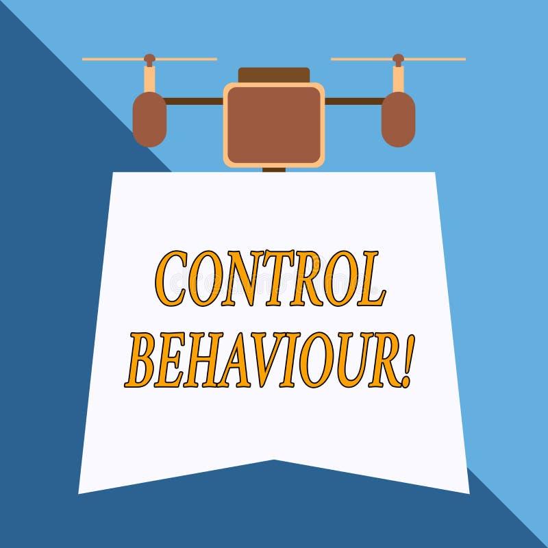 Nota di scrittura che mostra comportamento di controllo Foto di affari che montra esercizio di influenza e di autorità sopra il h illustrazione vettoriale
