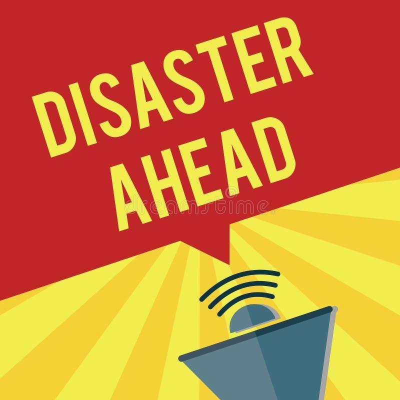 Nota di scrittura che mostra disastro avanti Foto di affari che montra piano di emergenza che prevede un disastro o un incidente illustrazione vettoriale