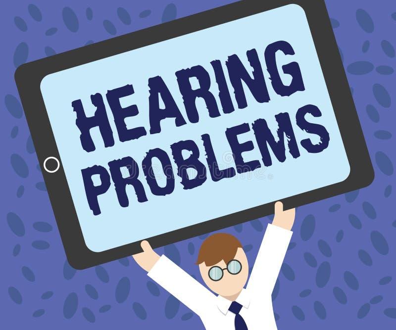 Nota di scrittura che mostra i problemi di udienza Montrare della foto di affari è incapacità parziale o totale di ascoltare norm royalty illustrazione gratis