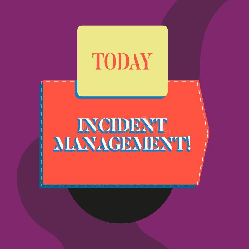 Nota di scrittura che mostra la gestione di incidente Foto di affari che montra processo per portare servizio alla normalit? i ri illustrazione vettoriale