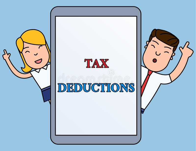 Nota di scrittura che mostra le detrazioni delle imposte La foto di affari che montra un importo o un costo che hanno sottratto d royalty illustrazione gratis