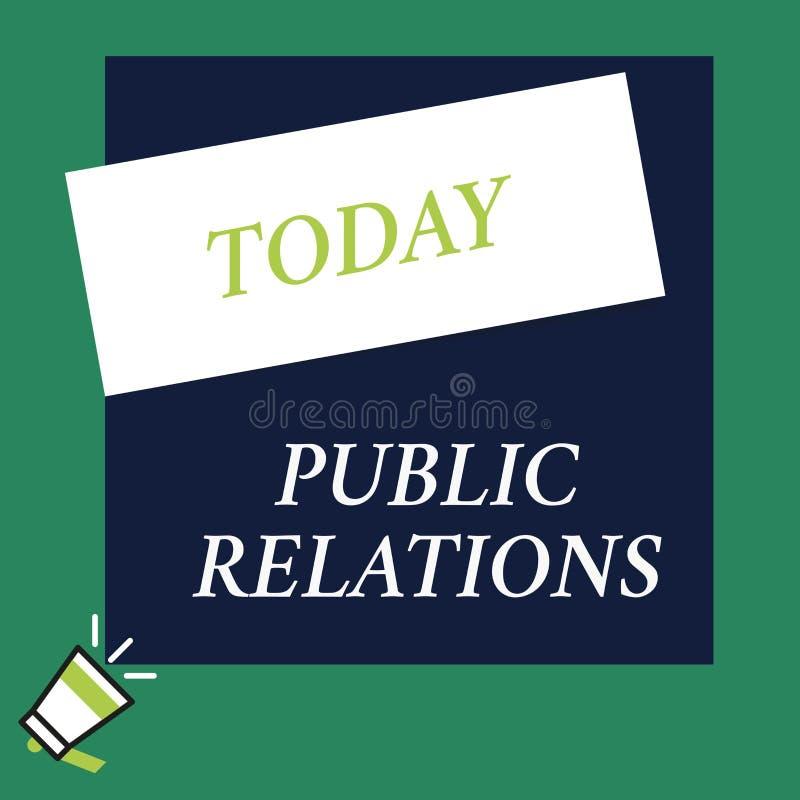 Nota di scrittura che mostra le pubbliche relazioni La foto di affari che montra la pratica che analysisaging si è sparsa di info royalty illustrazione gratis