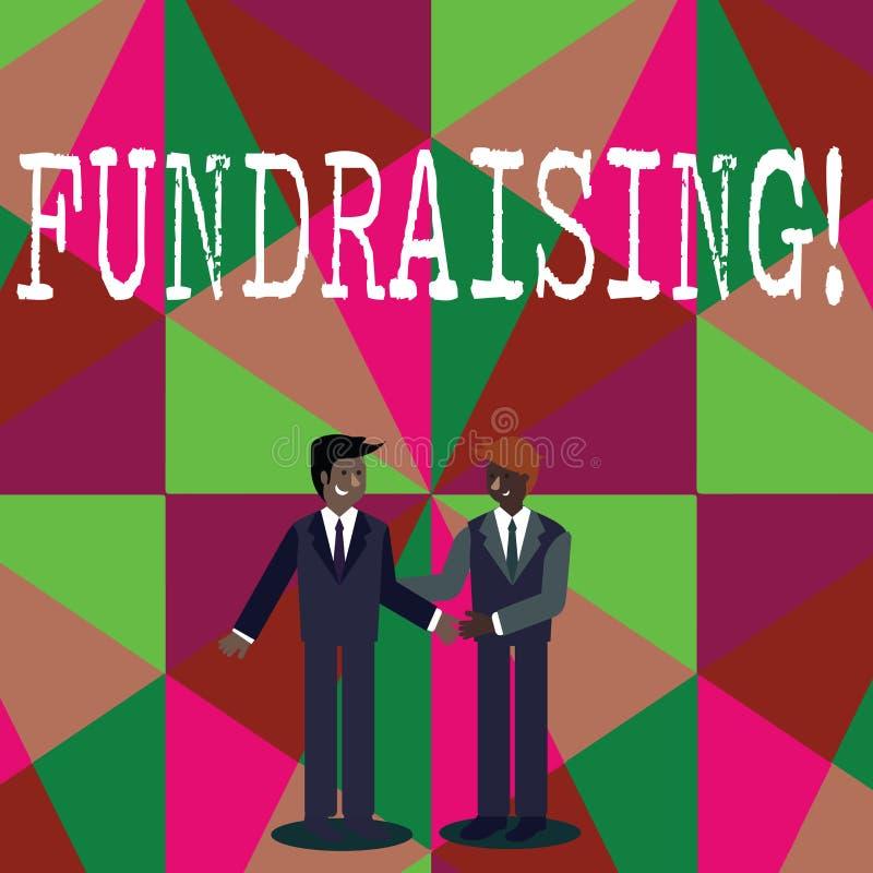 Nota di scrittura che mostra raccolta di fondi Foto di affari che montra ricerca del contributo finanziario per causa o impresa d illustrazione vettoriale