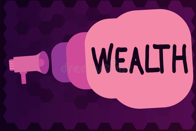 Nota di scrittura che mostra ricchezza Foto di affari che montra abbondanza di possessi o di soldi importanti per essere lusso mo royalty illustrazione gratis