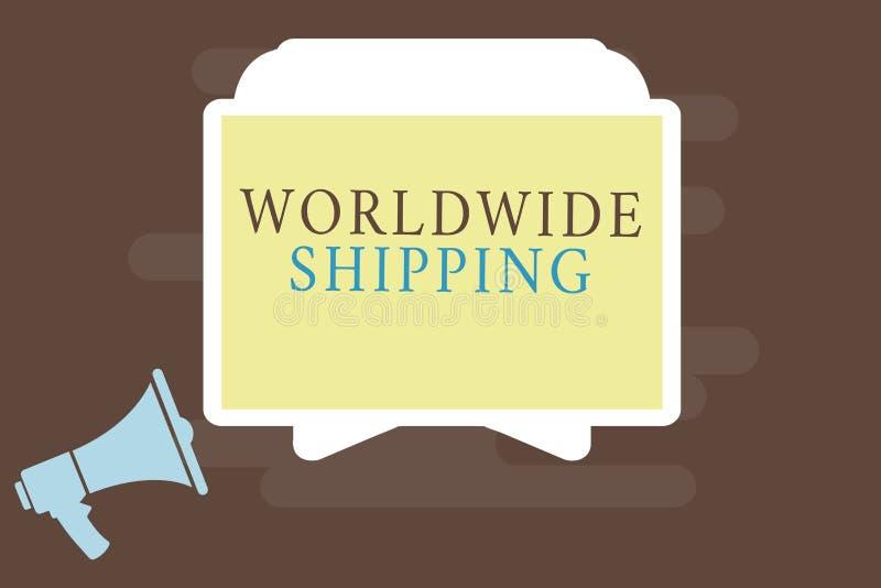 Nota di scrittura che mostra trasporto mondiale Foto di affari che montra consegna dei trasporti via mare della spedizione dell'i royalty illustrazione gratis