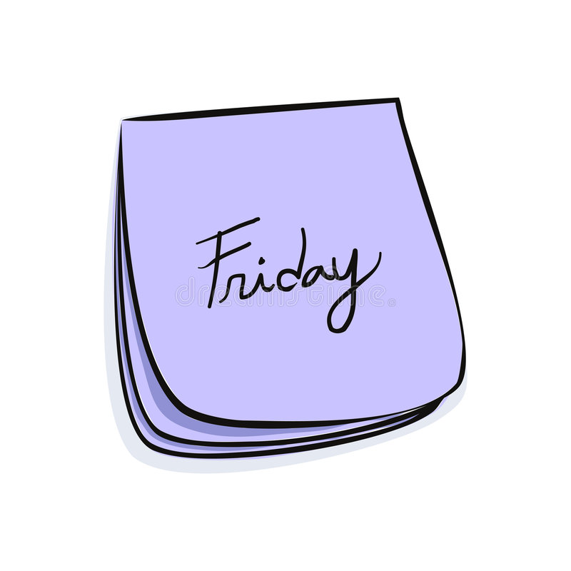 Download Nota di venerdì illustrazione vettoriale. Illustrazione di oggi - 7313555