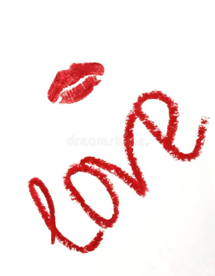 Download Nota Do Whit Do Beijo Do Batom. Imagem de Stock - Imagem de sexy, romântico: 10065871