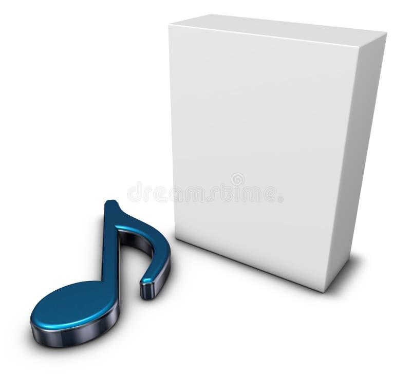 Nota e caixa da música ilustração stock