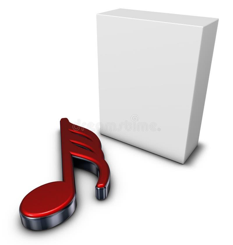 Nota e caixa da música ilustração do vetor